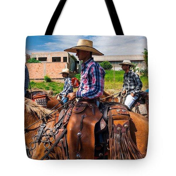 Cowboys In Brazil Tote Bag