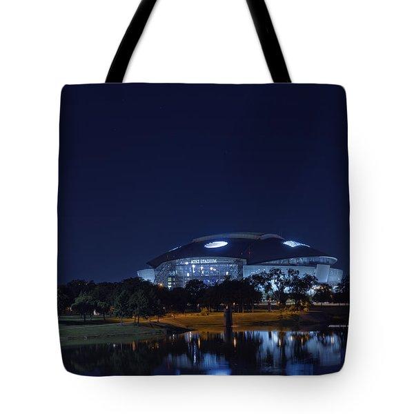 Cowboys Stadium Game Night 1 Tote Bag