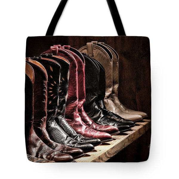 Cowgirl Boots Collection Tote Bag
