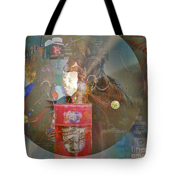 Cowgirl Cadillac Tote Bag