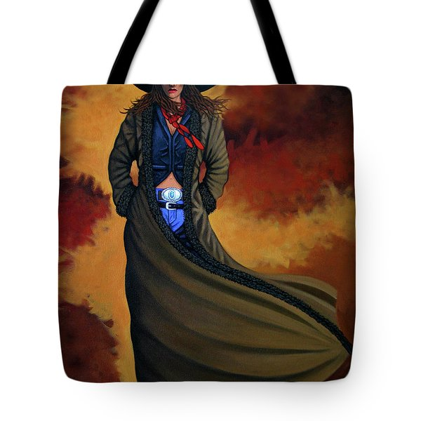 Cowgirl Dust Tote Bag by Lance Headlee