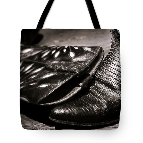 Cowgirl Gator Boots Tote Bag