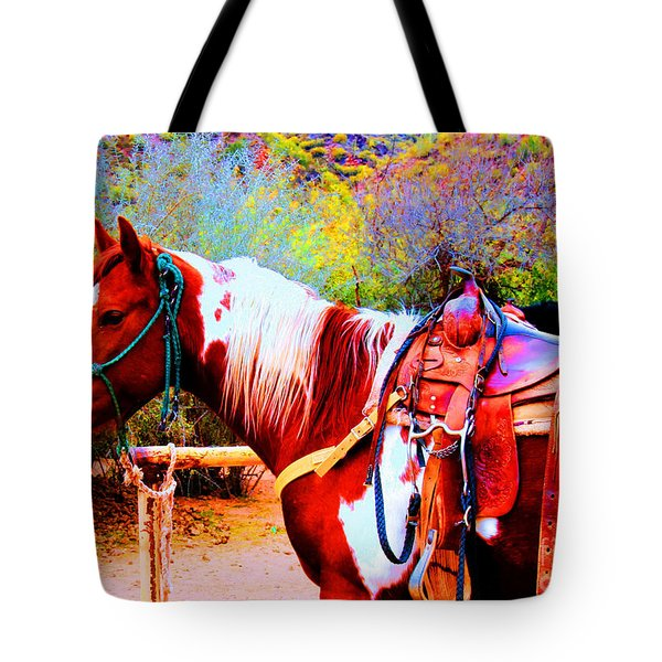 Cowgirl Up Tote Bag