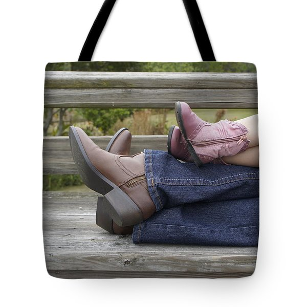 Tote Bag featuring the photograph Cowgirls by Laurie Perry