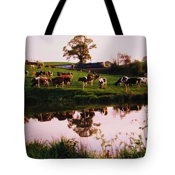 Cows In The Canal Tote Bag
