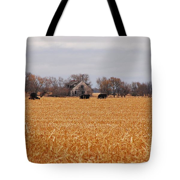 Cows In The Corn Tote Bag by Mary Carol Story