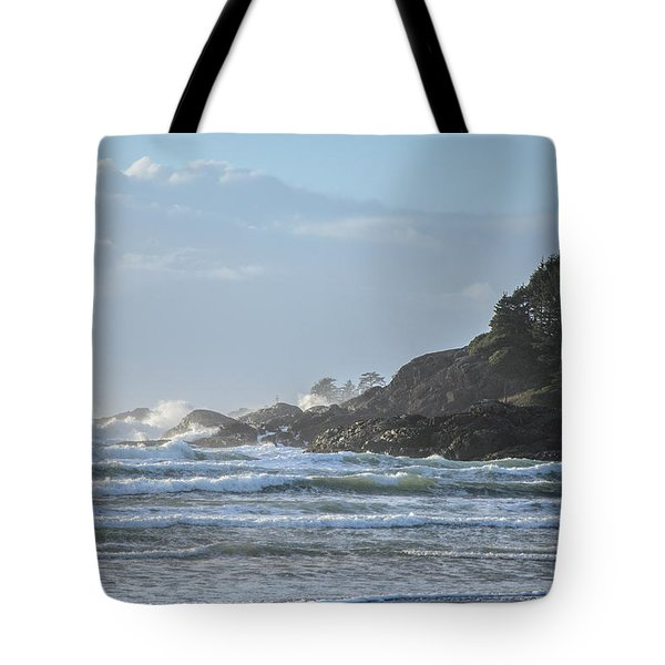 Cox Bay Afternoon Waves Tote Bag
