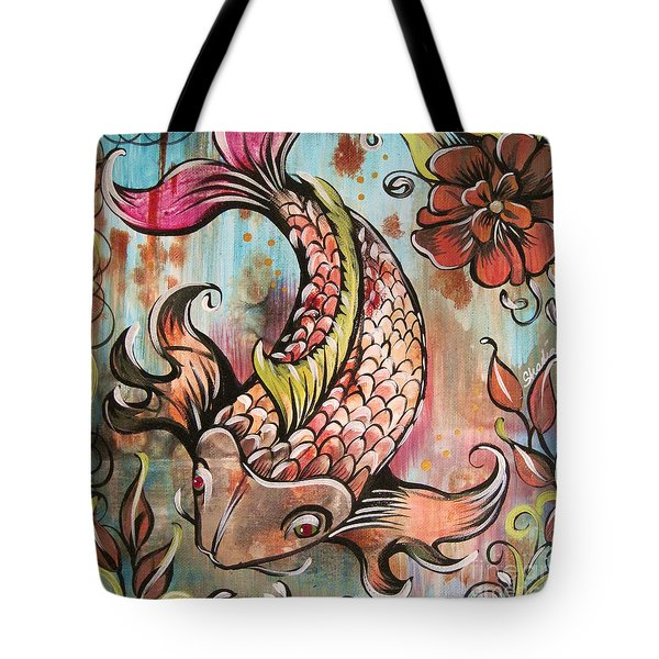 Coy Koi Tote Bag by Shadia Derbyshire
