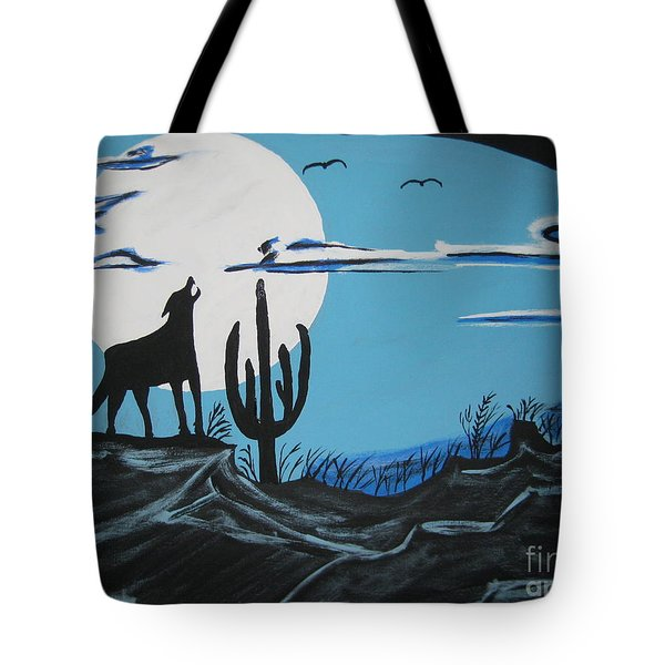 Tote Bag featuring the painting Coyote by Jeffrey Koss