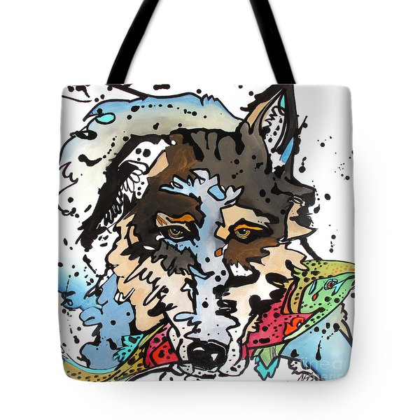 Tote Bag featuring the painting Coyote  by Nicole Gaitan
