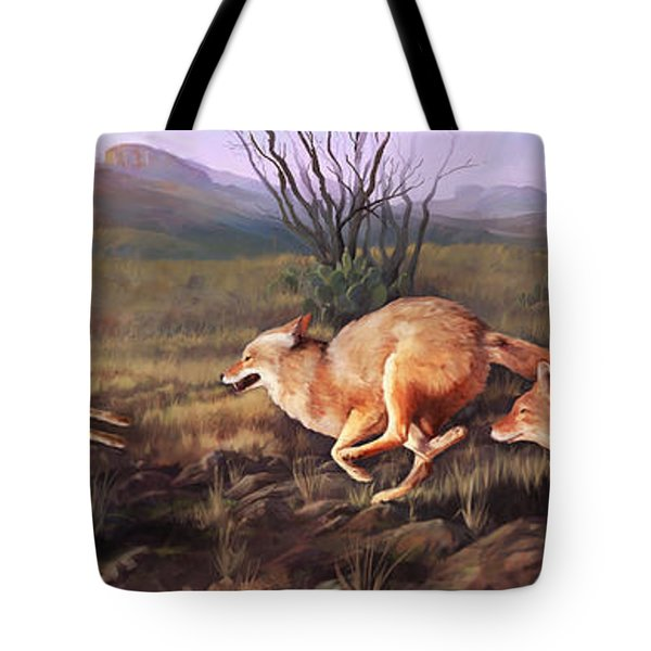 Coyote Run Tote Bag by Rob Corsetti