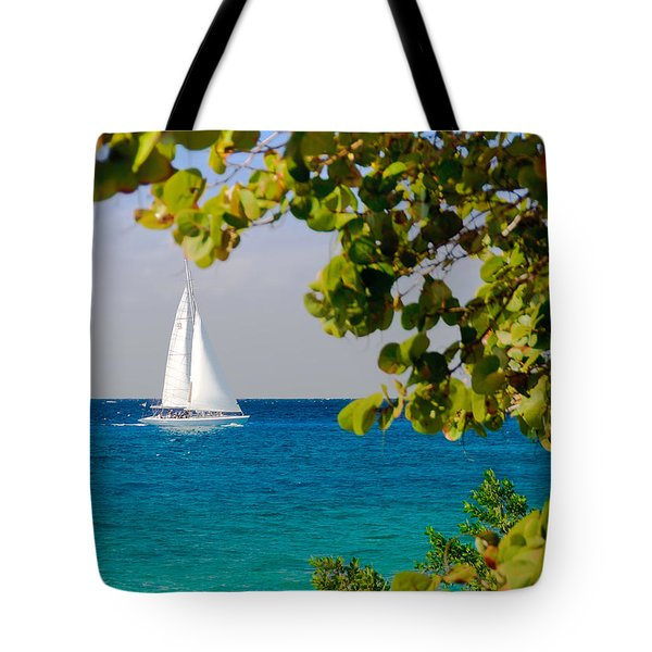 Cozumel Sailboat Tote Bag