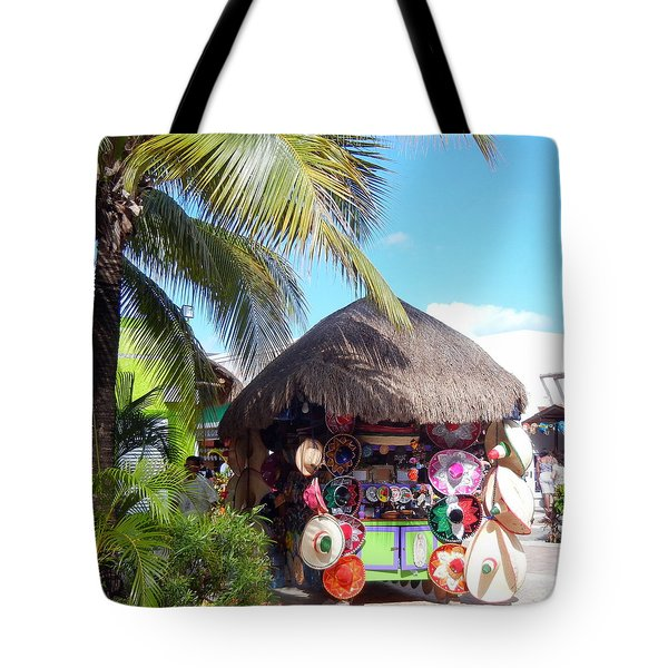 Tote Bag featuring the photograph Cozumel Souvernir Shopping by Debra Martz