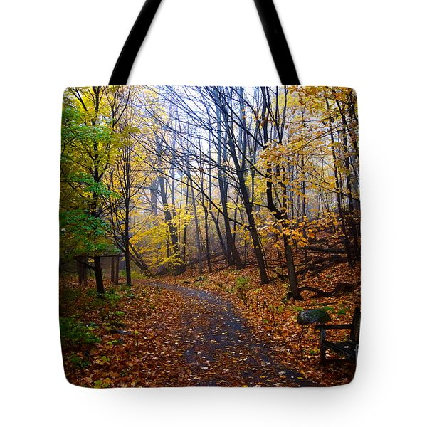 Cozy Fall Corner Tote Bag