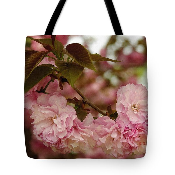 Tote Bag featuring the photograph Crab Apple Blossoms by James C Thomas