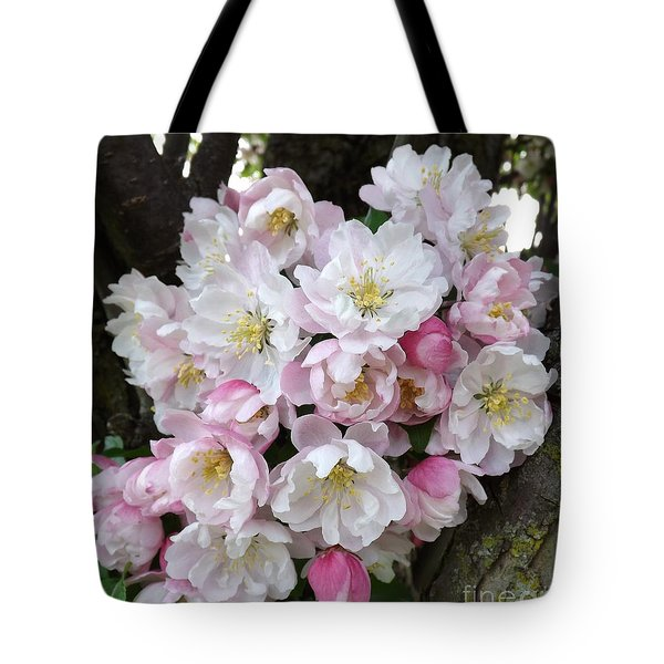 Crab Apple Blossoms Tote Bag