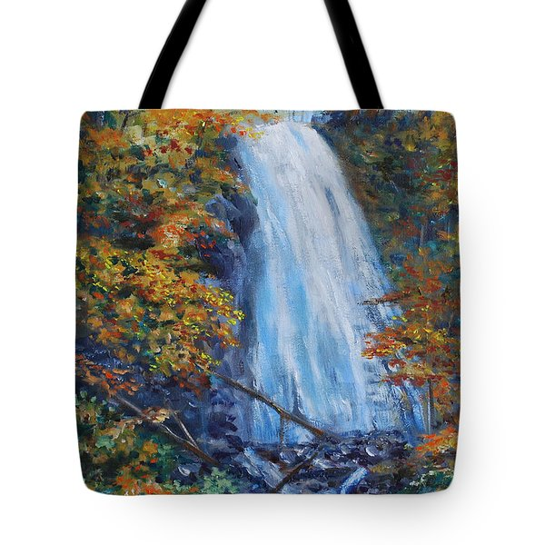 Crab Apple Falls Tote Bag