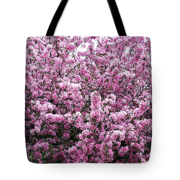 Crab Apple Tree Tote Bag by Aimee L Maher Photography and Art Visit ALMGallerydotcom
