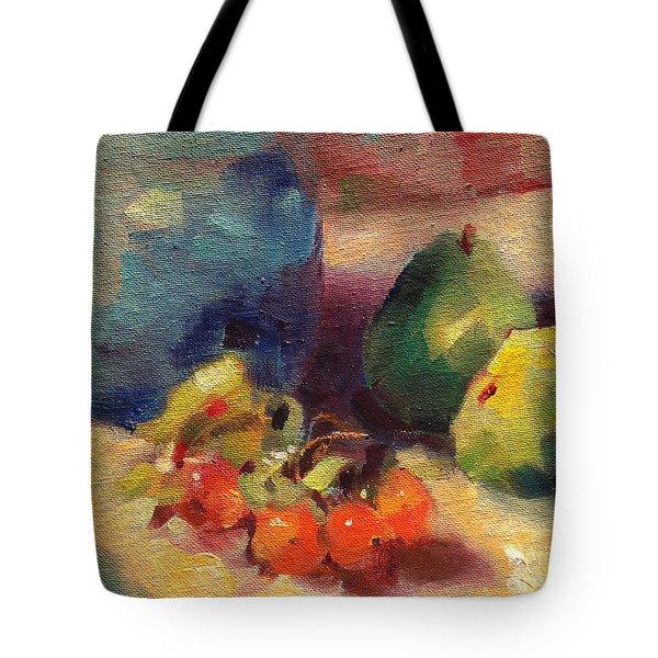 Crab Apples And Pears Tote Bag