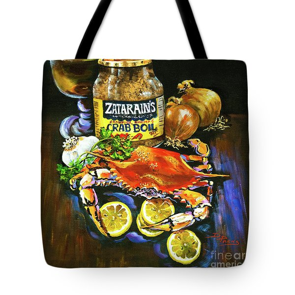 Tote Bag featuring the painting Crab Fixin's by Dianne Parks