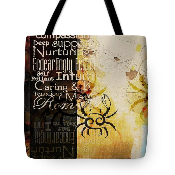 Crab Of The Star Cancer Tote Bag by Corporate Art Task Force