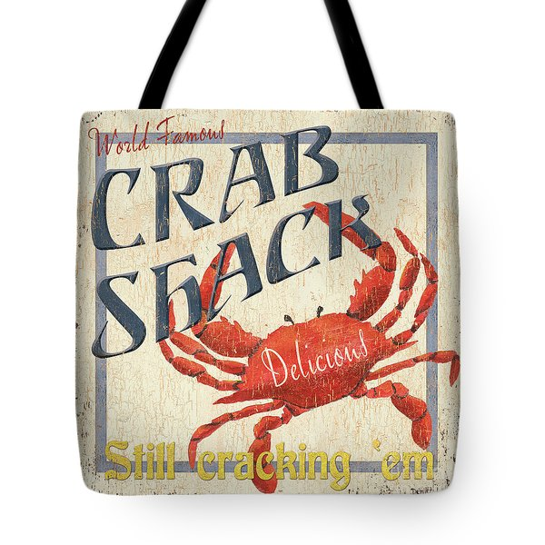 Crab Shack Tote Bag by Debbie DeWitt