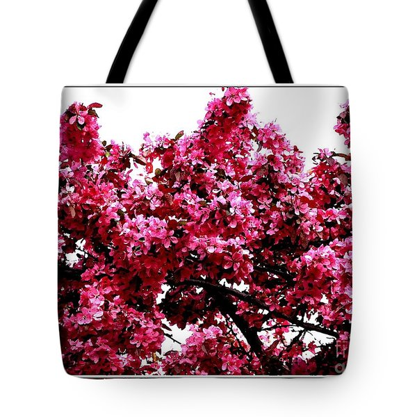 Crabapple Tree Blossoms Tote Bag by Rose Santuci-Sofranko