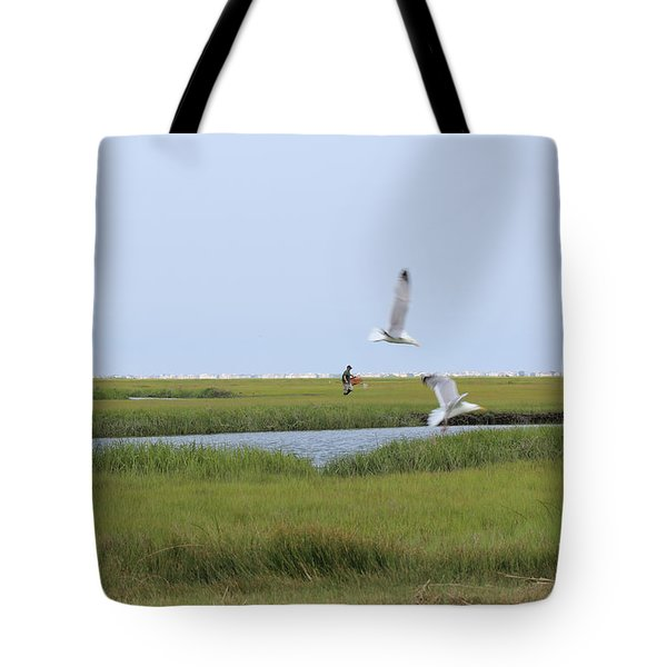 Crabber Tote Bag by David Jackson