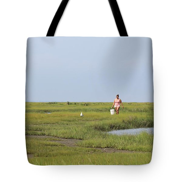 Crabbing At Mystic Island Tote Bag