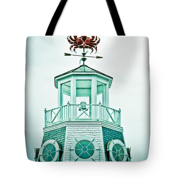 Crabby Weathervane Tote Bag by Marilyn Hunt