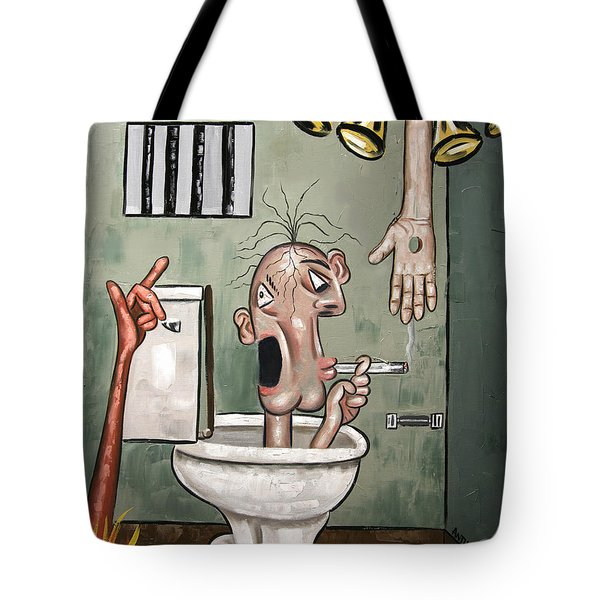 Crack Head Tote Bag by Anthony Falbo