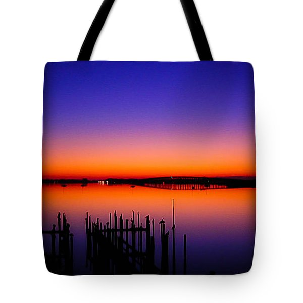 Crack Of Dawn Tote Bag by Shannon Harrington