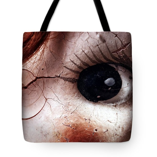 Cracked Eye Tote Bag by John Rizzuto
