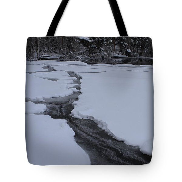 Cracked Ice  Tote Bag