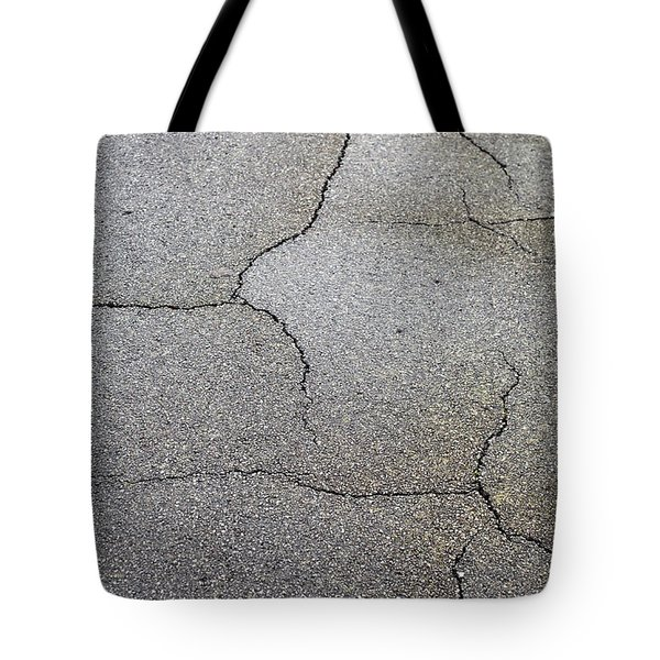 Cracked Tarmac Tote Bag by Tom Gowanlock