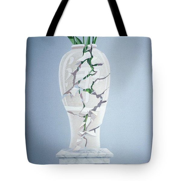 Cracked Urn Tote Bag by Lincoln Seligman