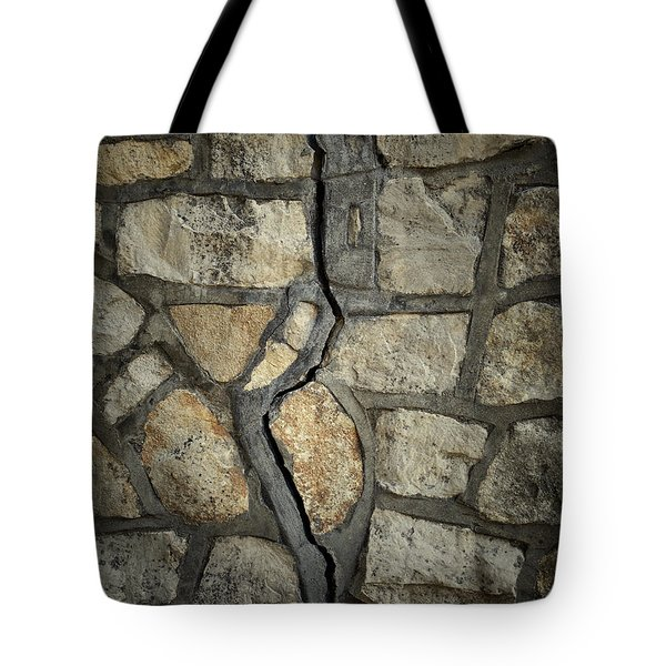 Cracked Wall Tote Bag by Les Cunliffe