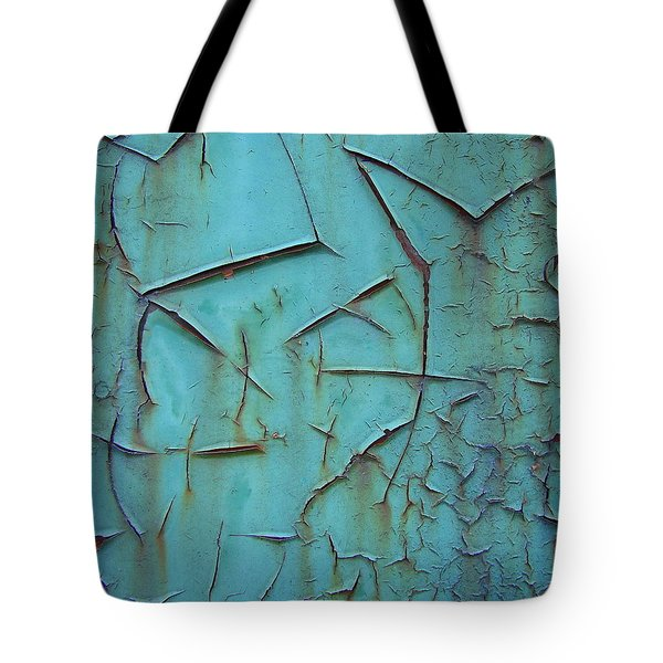 Crackled Rust Tote Bag by Ramona Johnston