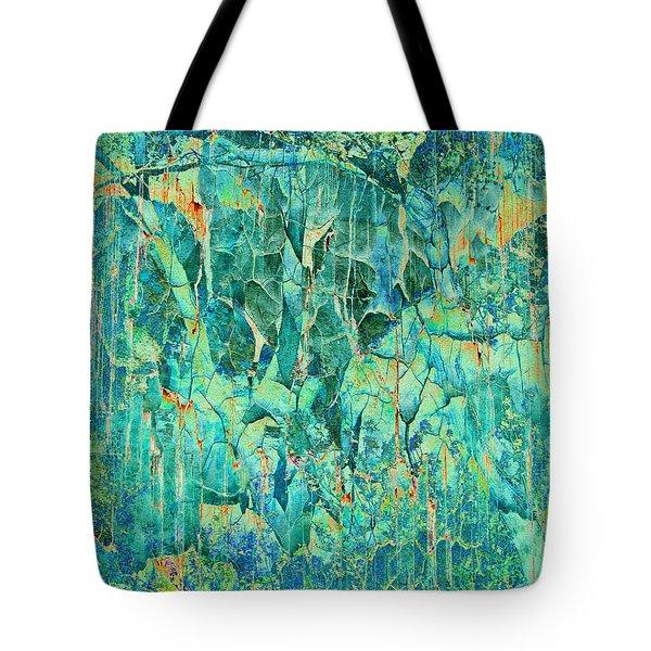 Cracks In Blue Tote Bag