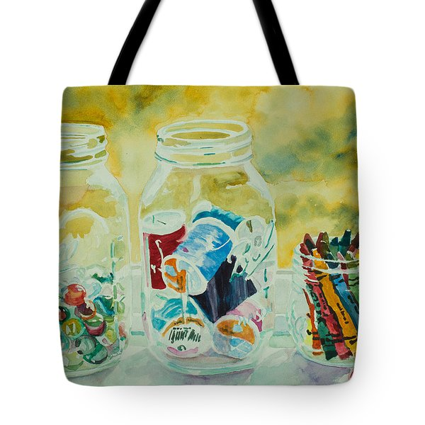 Craft Room Pickles Tote Bag by Jenny Armitage