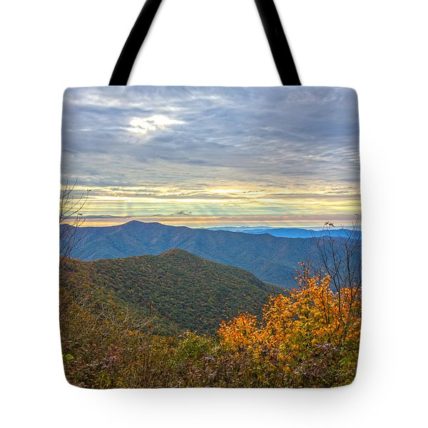 Craggy Sunrise Tote Bag by John Haldane