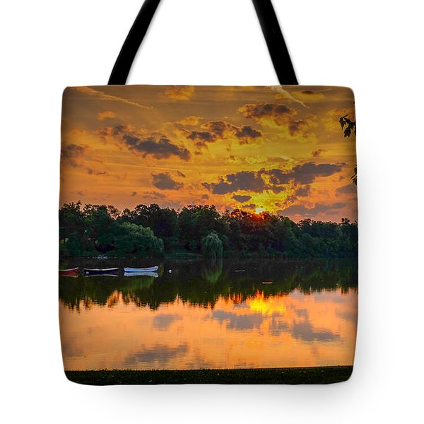Crane @ Sunrise Tote Bag