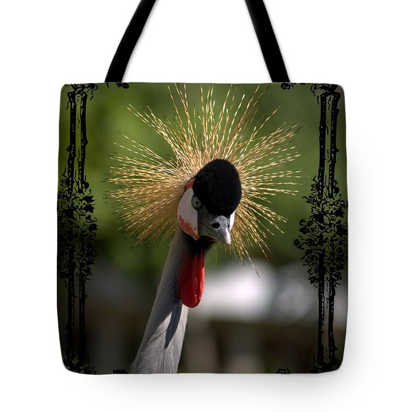 Tote Bag featuring the photograph Crane by Athala Carole Bruckner