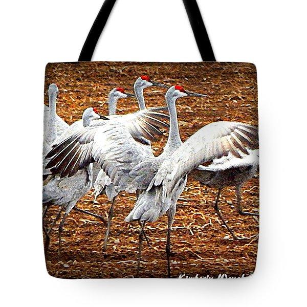 Crane Ballet  Tote Bag