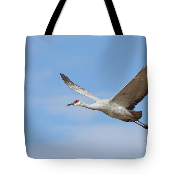 Tote Bag featuring the photograph Crane In The Skies by Ruth Jolly
