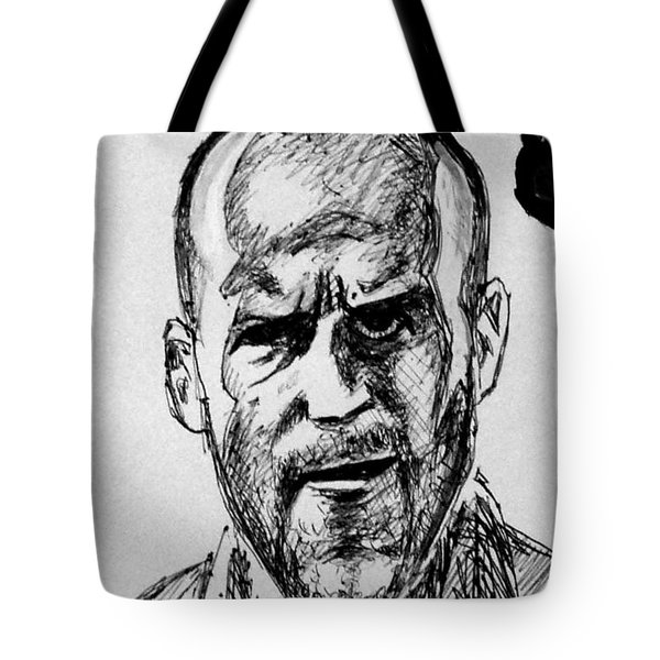 Tote Bag featuring the painting Jason Statham by Salman Ravish