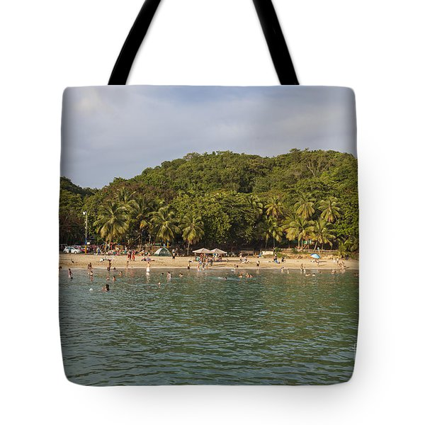 Tote Bag featuring the photograph Crash Boat Beach In Puerto Rico by Bryan Mullennix