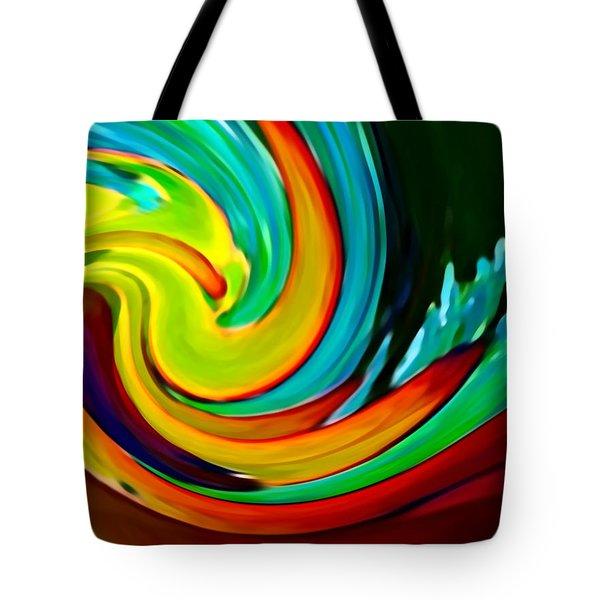 Crashing Wave Tote Bag by Amy Vangsgard