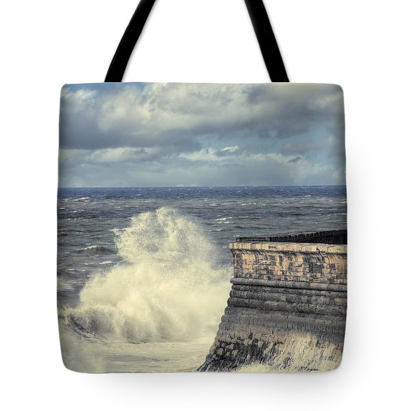 Crashing Waves Tote Bag by Amanda Elwell