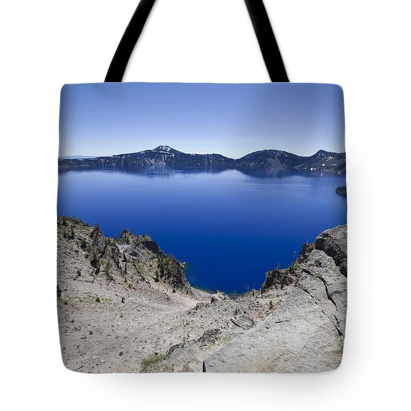 Tote Bag featuring the photograph Crater Lake by David Millenheft